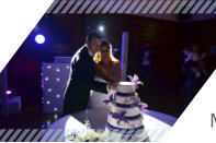 Mr & Mrs Elvy cutting their Wedding Cake